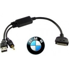 BMW Idrive Ipod Iphone Ipad Y kabelis adapteris adapteris  USB Aux Mini Cooper